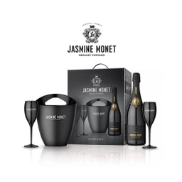 [2547] KIT FRAPERA Y COPAS JASMINE MONET BLACK 750ml